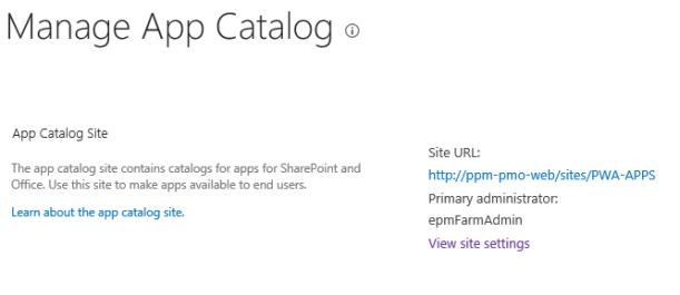 manage app catalog